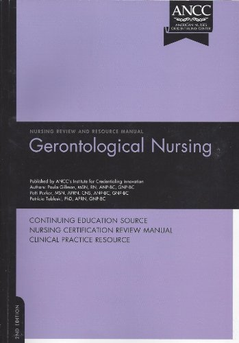 Gerontological Nursing Review and Resource Manual by Paula Gillman (2008-12-15)