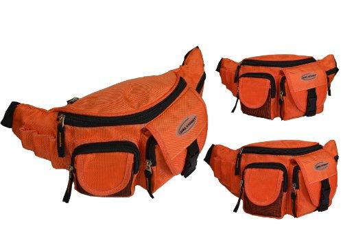Marsupio cintura borsa marsupio nero blu rosso arancione B100 Orange