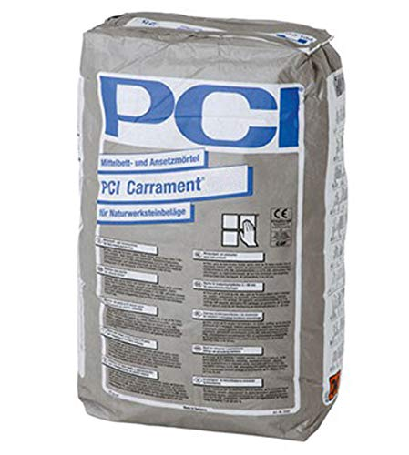 PCI CARRAMENT Mittelbett- und Ansetzmörtel Weiß 25 kg - Innen außen Boden & Wand