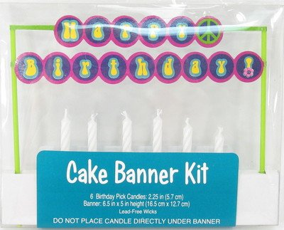 Groovy Girl Party Cake Banner Kit