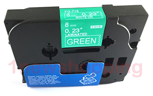 Compatibile per Brother P-Touch TZe TZ White on Green Label tape 6mm 9mm 12mm 18mm 24mm 36mm all size TZe-715 6mm Green/White