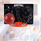 Fcostume Mini-Basketballkorb System Indoor Outdoor Büro zu Hause Wall Basketball Net Ziel (As Shown)
