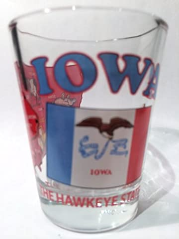 Iowa The Hawkeye State All-American Collection Shot Glass by World By Shotglass