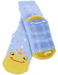 Weri Spezials Unisexe Bebes et Enfants ABS Eponge Grenouille Chaussettes Bleu tendre