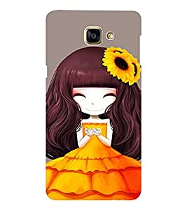 EPICCASE sunflower cute girl Mobile Back Case Cover For Samsung Galaxy A9 (Designer Case)