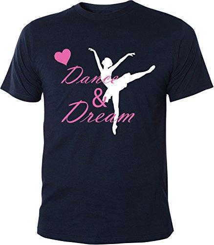 Mister Merchandise Herren Men T-Shirt Dance & Dream Tee Shirt bedruckt Navy