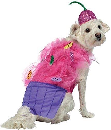 Fancy Me Haustier Hund Katze süß Cupcake mit Mütze Futter Turnier Kleidung Kostüm Kleid Kostüm Outfit XS-XXXL - Large