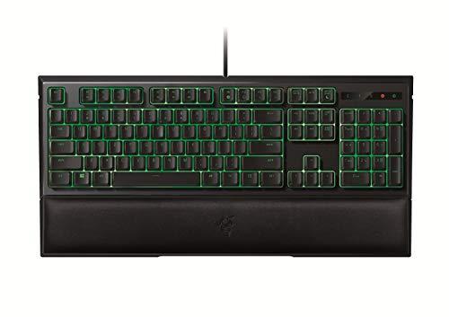Razer Ornata Mecha-Membrane Gaming-Tastatur mit ergonomischer Handgelenkstütze, halber Korsett, Hintergrundbeleuchtung, italienisches Layout, Grün (Zertifikat) - Taste Korsett