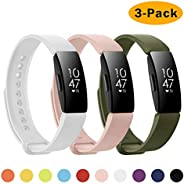 NANW 3-Pack Compatible with Fitbit Inspire HR Bands/Fitbit Inspire Band, Adjustable Soft Silicone Inspire Stra