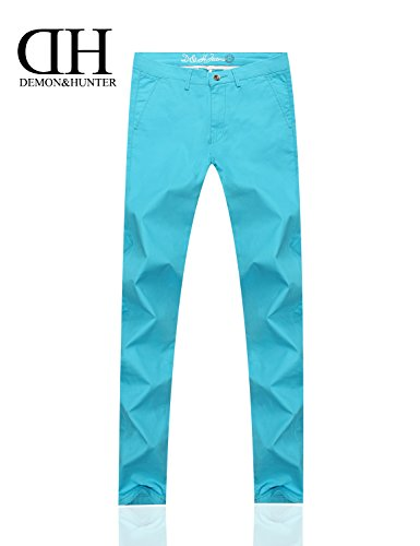 Demon&Hunter 910X Mince-Fit Séries Pour des hommes Extensibles Décontractée Pantalon DH9108 x Glace bleue