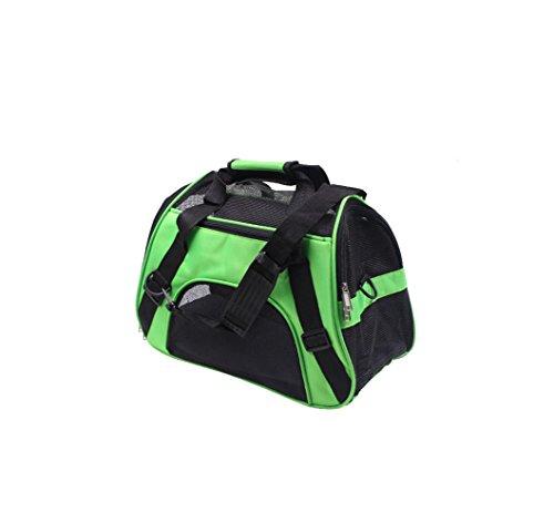 Cerberus Portable Pet Bag Rucksack Schulter Falten wasserdichte Autositz Pet Booster Sitzträger Kisten,Green,S (Portable Kiste Pet)