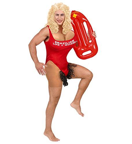 Rettungsschwimmer Junggesellenabschied roter Badeanzug + Rettungsboje (XL)