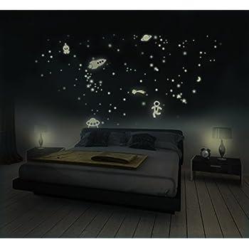 sternenhimmel 350 st ck leuchtpunkte und leuchtsterne selbstklebend und fluoreszierend. Black Bedroom Furniture Sets. Home Design Ideas