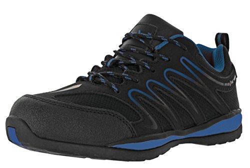 (REIS Ecuador Arbeitsschuhe Berufs-Schuhe Ohne Stahlkappe, Rutschfeste Sohle, Kraftstoffbeständig, Farbe Blau, Größe: 46)