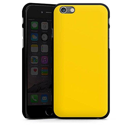 Apple iPhone 4 Housse Étui Silicone Coque Protection Jaune Jaune soleil Printemps CasDur noir