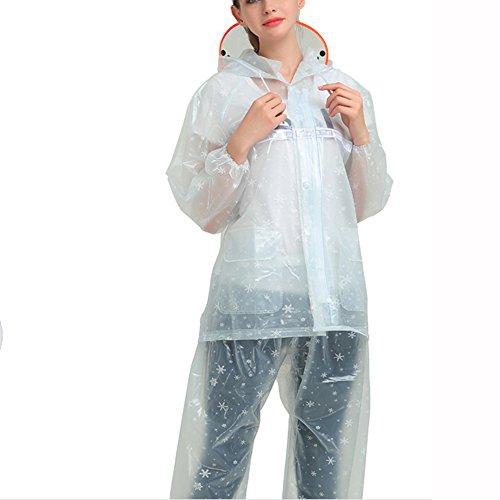 HGXC WY Regenmantel Regenanzug, selbstleuchtende transparente Erwachsene Männer und Frauen im Freien Reiten Split Motorrad Regenmantel draussen (Farbe : D, größe : XXXL)
