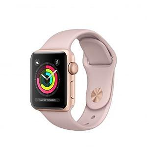 Apple Watch Series 3 OLED GPS (satélite) Oro reloj inteligente - Relojes inteligentes (OLED, Pantalla táctil, GPS (satélite), 18 h, 26,7 g, Oro)