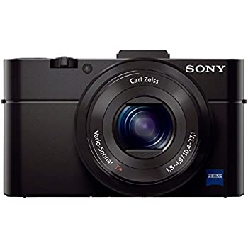Sony DSCRX100M2 Advanced Cybershot Digital Compact Camera with Large 1 inch Sensor, Bright High Quality Zeiss Lens (20 MP, 3.6x optical zoom, Wi-Fi, NFC, Tiltable LCD Screen, Hot shoe) - Black