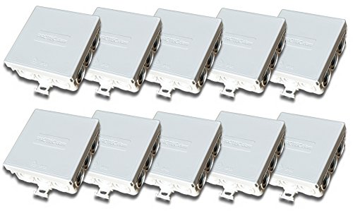 Protec.class Lot de 10 boîtes de raccordement / de dérivation IP55 85 x 85 x 37 mm pour pièces humides