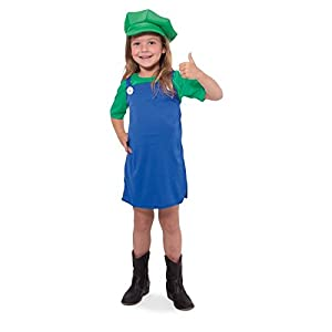Folat 63231-Verde Super de Fontanero de Camisa para niña-tamaño 134-152
