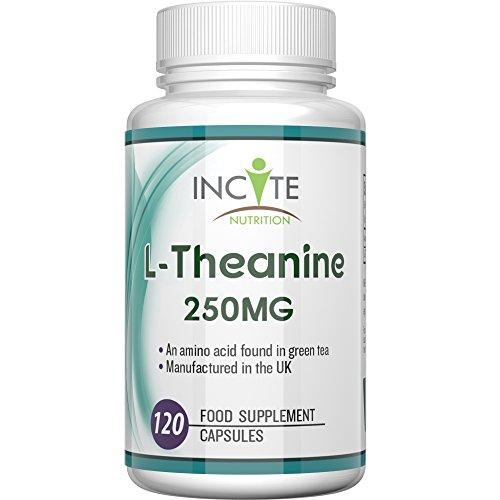 Supplément de L-théanine 250mg 120 Capsules (6 mois d'approvisionnement) - 100 % garantie de remboursement - Dosage élevé - les avantages sur la santé incluent un meilleur sommeil, moins de stress et d'anxiété - convient aux végétaliens et végétariens - fabriquée au Royaume-Uni