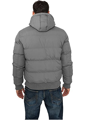 TB342 Hooded Bubble Blouson Herren Winter Jacke Kapuze dkgrey