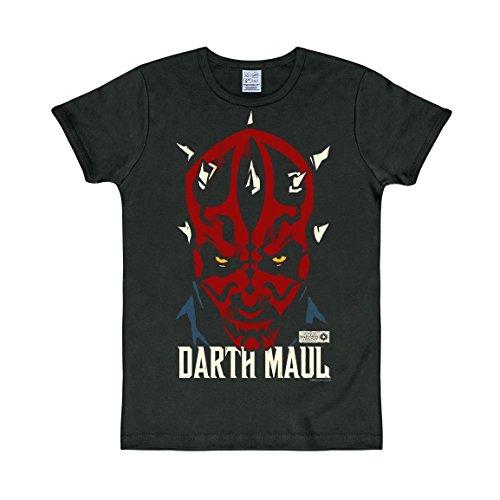 Logoshirt T-Shirt Darth Maul - Star Wars - Rundhals Shirt - Rundhals Shirt schwarz - Originaldesign, Größe M