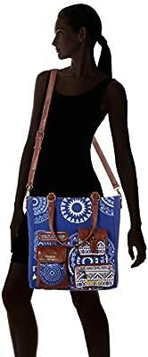 Desigual Bols_budapest Blackville, Sacs bandoulière femme, Blau (Royal), 13x36.5x33 cm (W x H D)