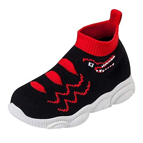 HDUFGJ Unisex Kinderschuhe Sneaker Jungen Turnschuhe Mädchen Laufschuhe Stricken Socken Schuhe Atmungsaktiv Outdoor Schuhe Bequem Weicher Boden Fitnessschuhe