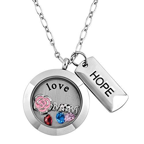 Pugster Anhänger Medaillon schwebender Magnet Halskette mit Anhänger Love Mum 50 cm Kette