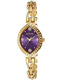 Sonata Analog Purple Dial Women's Watch-8149YM02
