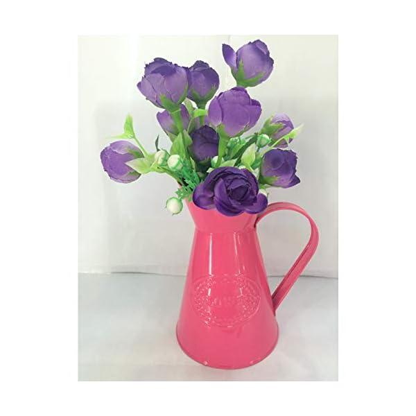 JUNGEN Jarrón Decorativas de Moda florero del Hierro de Retro Decoración Simple para jardín casero, Azul