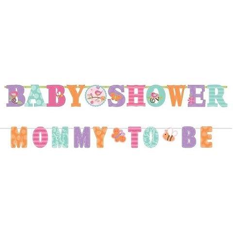 Amscan Tweet Baby Girl Party - Cartel en inglés para fiesta premamá