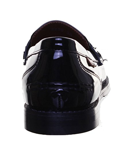 ... Justin Reece 8800 Leder matt Damen Stiefel Black Patent PN12 ...