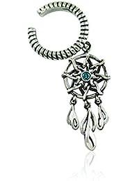 463663a1831 Sweet Dreams Dreamcatcher Earcuff in Pure 925 Sterling Silver for Women    Girls by fourseven (