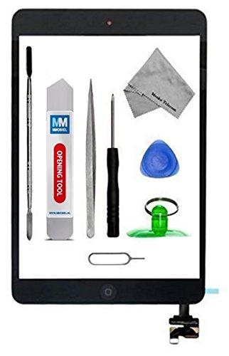 Assemblaggio digitizer schermo tattile display di vetro - Incl Pulsante home + flex + Supporto camera per IPAD mini 1 / 2 NERO