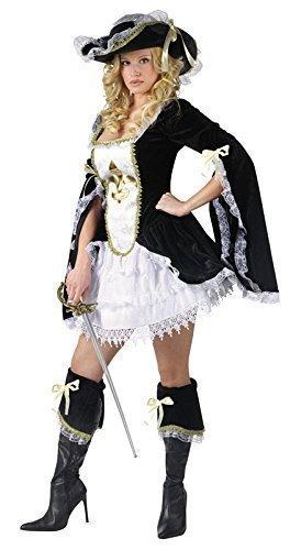 Damen Kostüm - 4 Teile Frau Musketier Piraten Verkleidung EU 38-40