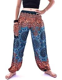 7bcad631515c BIRAN Pantaloni di Yoga Uomini Uomini Donne Harem India Grazioso Tailandesi  Pants Boho Festival Hippie Smock