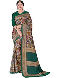 Novus Knitting Multi-coloured Pure Mysore Silk Designer Bollywood Saree With Blouse For Uniform (4764)