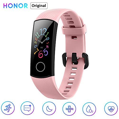 Honor Band 5 Fitness Smart Armband 0,95 Zoll AMOLED Bluetooth 4.2 Smart Watch 5ATM wasserdichte (rosa)