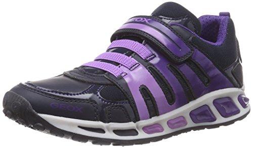 Geox J SHUTTLE GIRL C, Mädchen Sneakers, Blau (C4PN8DK NAVY/VIOLET), 28 EU