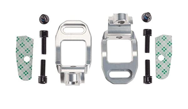 New Hope Tech Brake Shifter Clamp Mount For Shimano XTR M-980 Pair Silver