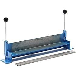"""WilTec Plieuse de tôle Manuelle Longueur 760 mm (30"""") Max. Angle de Pliage 90° Appareil de cintrage Atelier"""
