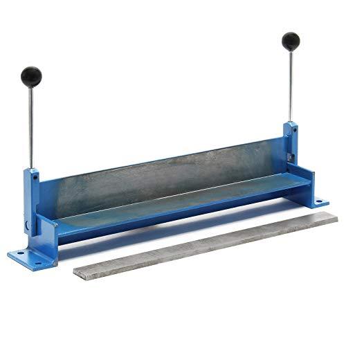 """WilTec Plieuse de tôle Manuelle Longueur 460 mm (18"""") Max. Angle de Pliage 90° Appareil de cintrage Atelier"""