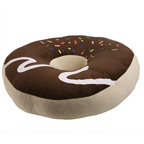 JNTworld Comfort Soft-Kissen-Kissen-Plätzchen Nettes Schokoladen-Krapfen-geformte Sitzring Plüsch,blau