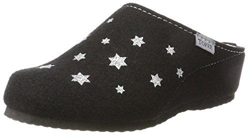 TOFEE Damen 74-106 Sterne Pantoffeln, (Schwarz), 40 EU