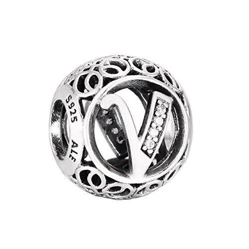 Pandora 791866CZ Vintage V Charm