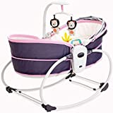 YUYAXBB Verstellbare Babywippe, 5 in 1 Babyschaukel, Beruhigende Vibration, Ab Geburt Bis 12 Kg Verwendbar