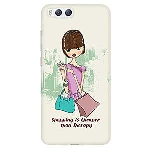 URBAN KOLOURS Original Designer Printed Hard Case Back Cover for Xiaomi Mi 6 (Shopaholic)