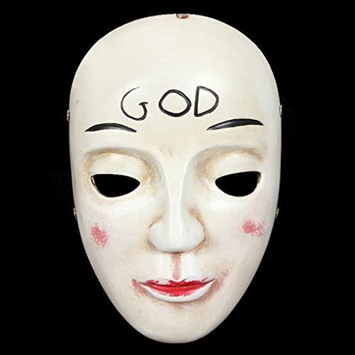 Unbekannt Mask- Ghost Party Harz Maske Menschliches Lächeln Cos Film Maske Halloween Maske Terror Party Requisiten (Farbe : C)